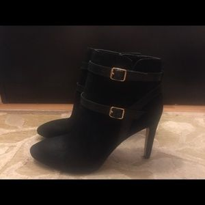 Ann Taylor Double Buckle Booties